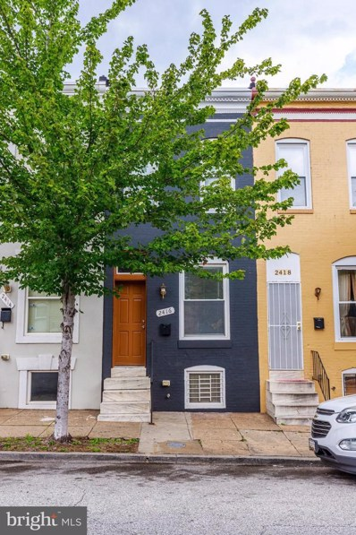 2416 Jefferson Street, Baltimore, MD 21205 - #: MDBA523796