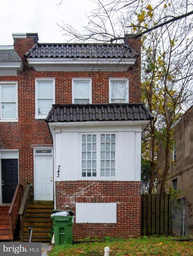 743 Cator Avenue, Baltimore, MD 21218 - #: MDBA532244