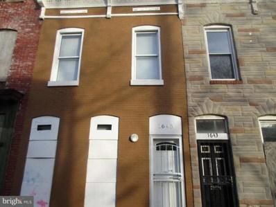 1645 N Spring Street, Baltimore, MD 21213 - #: MDBA535954