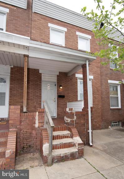 413 N Bouldin Street, Baltimore, MD 21224 - #: MDBA546948