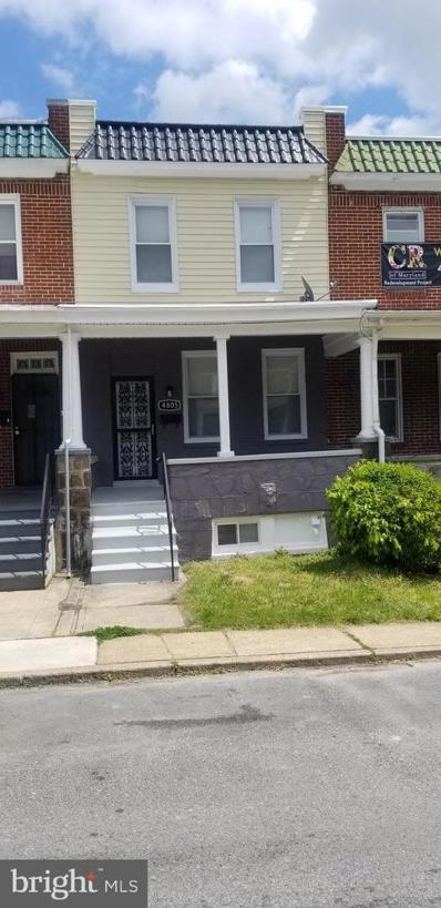 4805 Alhambra Avenue, Baltimore, MD 21212 - #: MDBA548476