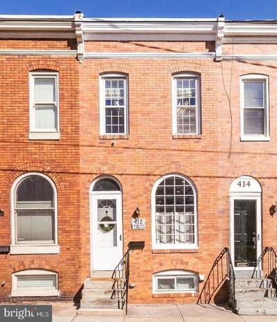 412 E Cross Street, Baltimore, MD 21230 - #: MDBA550558