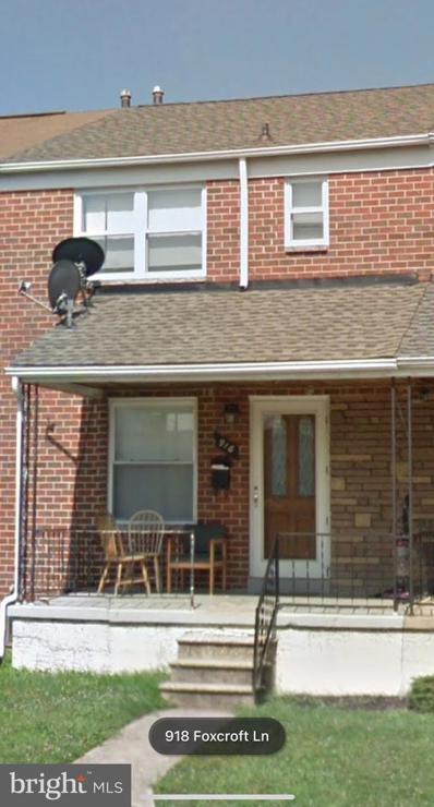 918 Foxcroft Lane, Baltimore, MD 21221 - MLS#: MDBC527028