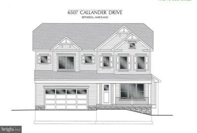 6507 Callander Drive, Bethesda, MD 20817 - #: MDMC686140