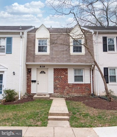 839 Azalea Drive UNIT 28, Rockville, MD 20850 - #: MDMC700962