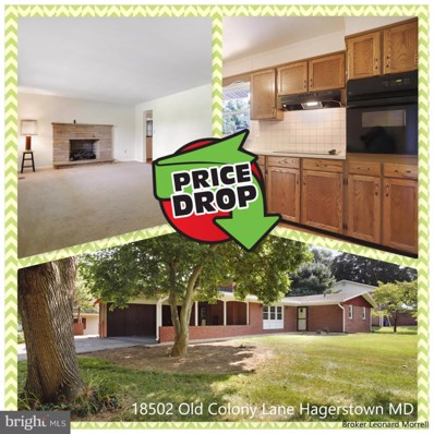 18502 Old Colony Lane, Hagerstown, MD 21742 - #: MDWA166726