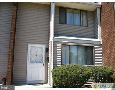 13-K Quincy Circle UNIT K, Dayton, NJ 08810 - MLS#: NJMX123966