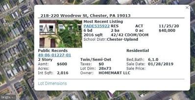 218-220-  Woodrow Street, Chester, PA 19013 - #: PADE535922