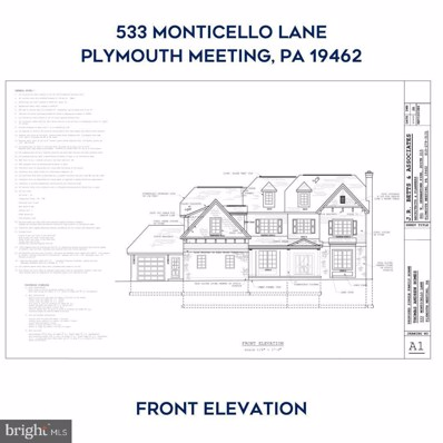 533 Monticello Lane, Plymouth Meeting, PA 19462 - #: PAMC683840