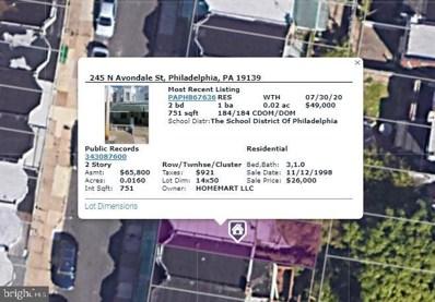 245 N Avondale Street, Philadelphia, PA 19139 - #: PAPH977082