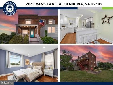 263 Evans Lane, Alexandria, VA 22305 - #: VAAX2003952