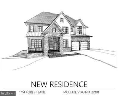 1714 Forest Lane, Mclean, VA 22101 - #: VAFX1101832