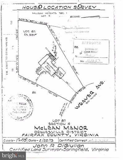 6700 Weaver Avenue, Mclean, VA 22101 - #: VAFX1156164