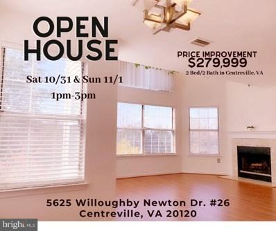 5625 Willoughby Newton Drive UNIT 26, Centreville, VA 20120 - #: VAFX1160716