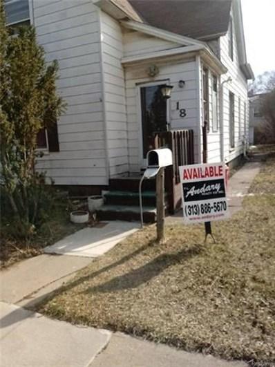 18 E Anchor Street, River Rouge, MI 48218 - MLS#: 218022988