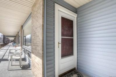 15075 Hubbard Street UNIT 12, Livonia, MI 48154 - MLS#: 218024279