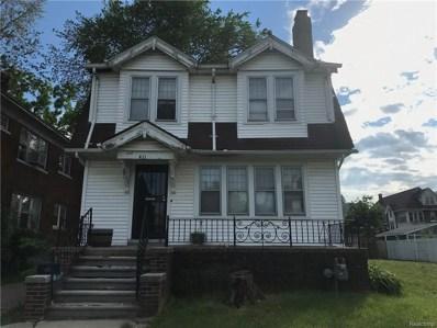 411 Eastlawn Street, Detroit, MI 48215 - MLS#: 218046386