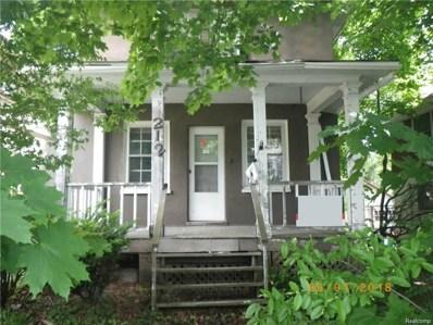 212 Oliver Street, Pontiac, MI 48342 - MLS#: 218050486