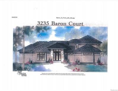 3235 Baron Court, Bloomfield Twp, MI 48302 - MLS#: 218055092