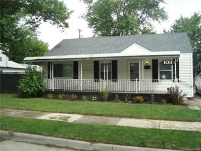 103 E Mahan Avenue, Hazel Park, MI 48030 - MLS#: 218079951
