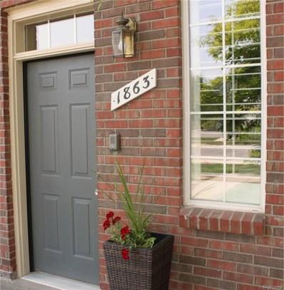 1863 Flagstone Circle, Rochester, MI 48307 - MLS#: 218081780