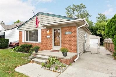 1818 Fern Street, Royal Oak, MI 48073 - MLS#: 218100323