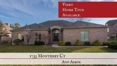 1733 Monterey Court, Pittsfield Twp, MI 48108 - MLS#: 543259875