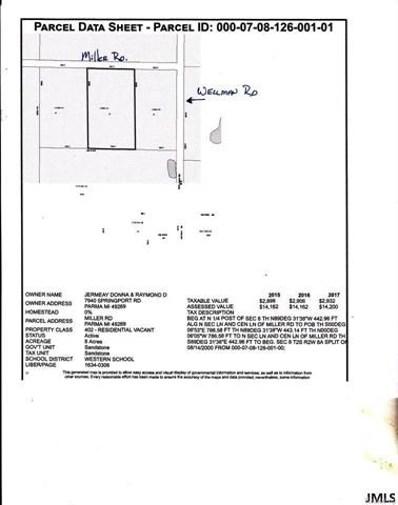 Miller Rd, Sandstone Charter, MI 49269 - MLS#: 55201704325