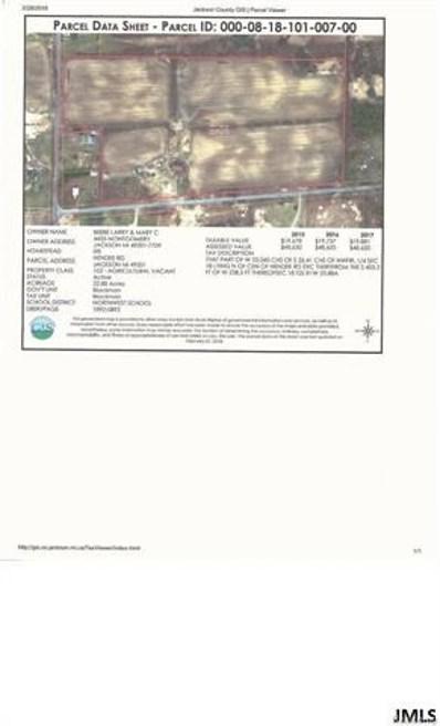 Hendee Rd, Blackman Charter, MI 49201 - MLS#: 55201800596