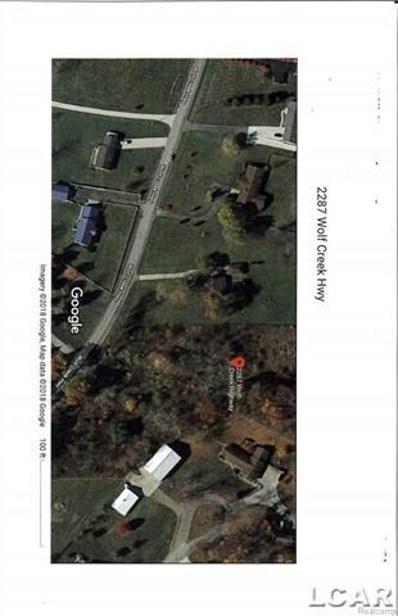 2287 Wolf Creek, Adrian Twp, MI 49221 - MLS#: 56031339539