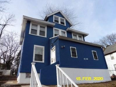 47 Pine Grove Ter, Newark City, NJ 07106 - MLS#: 3616700