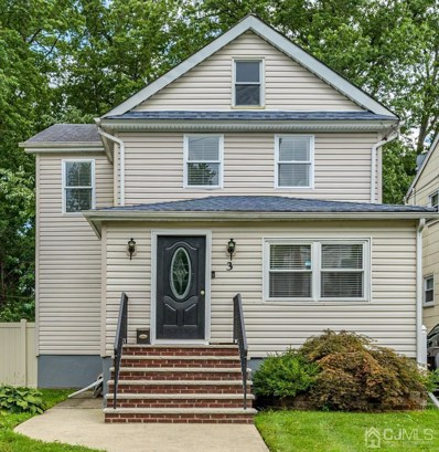 3 JOHNSON Avenue, Cranford, NJ 07016 - MLS#: 2101944