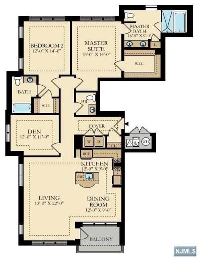 150 HENLEY Place UNIT 301, Weehawken, NJ 07086 - MLS#: 1748579