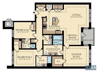 150 HENLEY Place UNIT 208, Weehawken, NJ 07086 - MLS#: 1748583