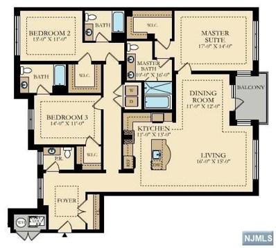 150 HENLEY Place UNIT 207, Weehawken, NJ 07086 - MLS#: 1748585