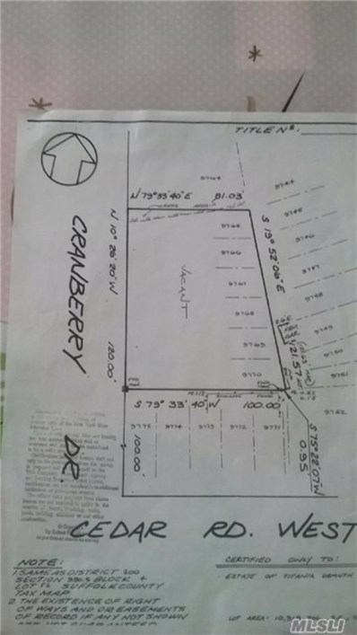 Cranberry Dr, Mastic Beach, NY 11951 - MLS#: 2943487