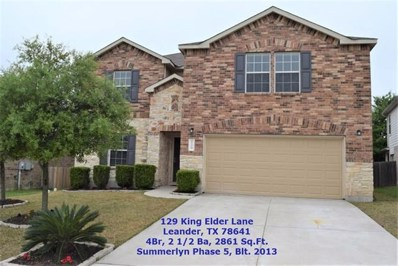 129 King Elder Ln, Leander, TX 78641 - #: 1321002