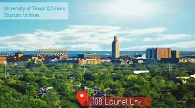 108 Laurel Lane, Austin, TX 78705 - #: 3007380