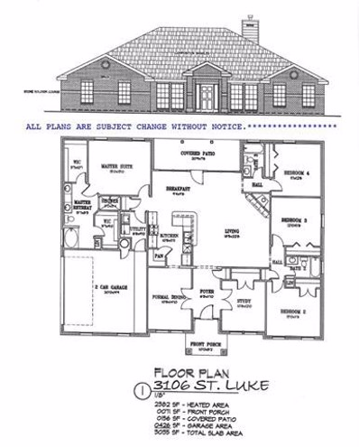3106 Saint Luke Street, Salado, TX 76571 - MLS#: 4458018