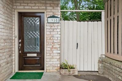 1931 Stoney Brook Drive UNIT 1931, Houston, TX 77063 - MLS#: 27592247