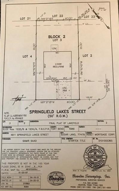 4611 Springfield Lakes Street, Sugar Land, TX 77479 - MLS#: 28261427