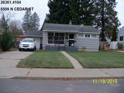 5509 N Cedar, Spokane, WA 99205 - MLS#: 201815681